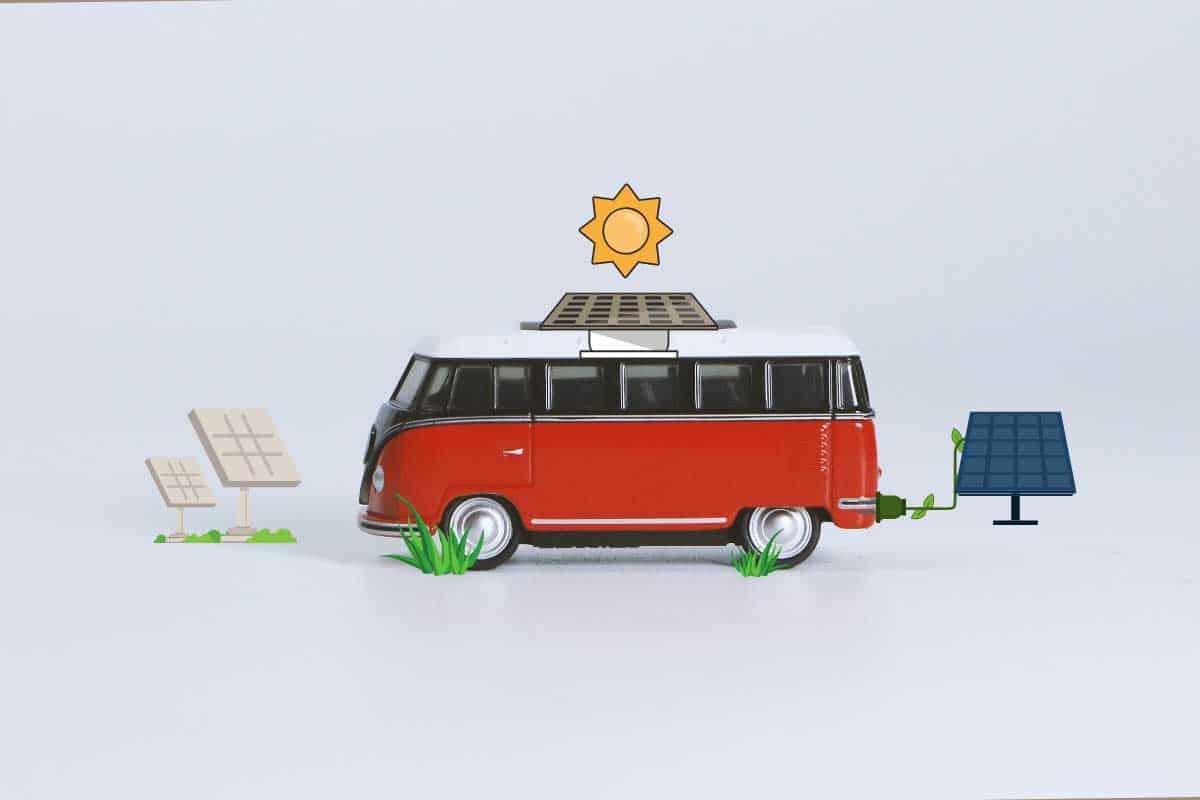 Photo of van using solar to power campervans
